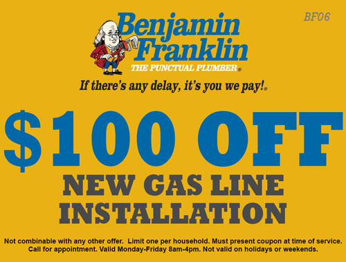 $100 Off New Gas Line Installation