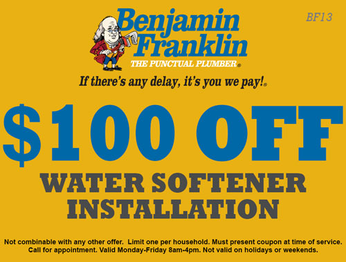 $100 Off Water Softener Installation