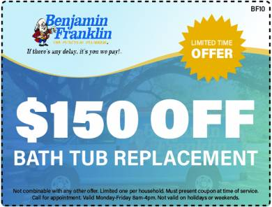 $150 Off Bath Tub Replacement