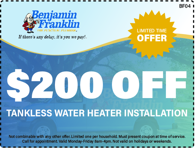 $200 Off Tankless Water Heater Installation