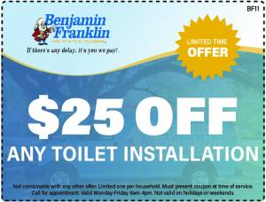 $25 Off Any Toilet Installation