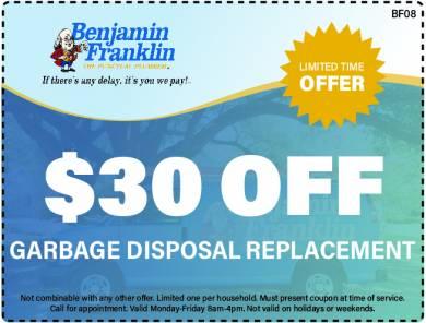 $30 Off Garbage Disposal Replacement