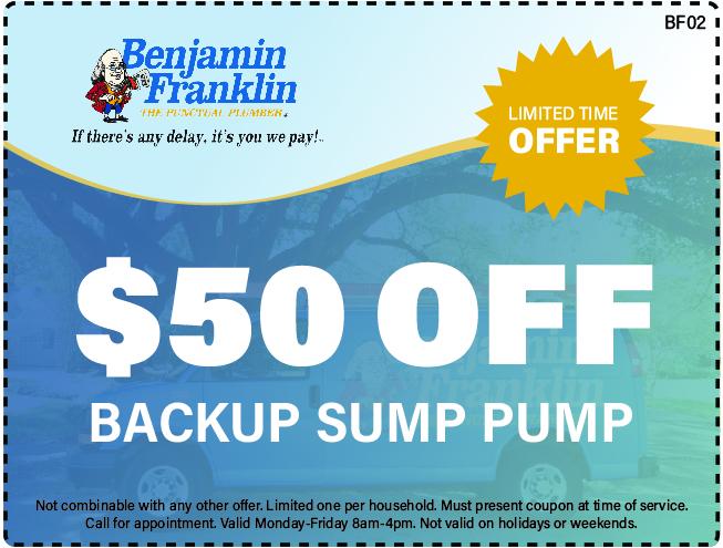 $50 Off Backup Sump Pump