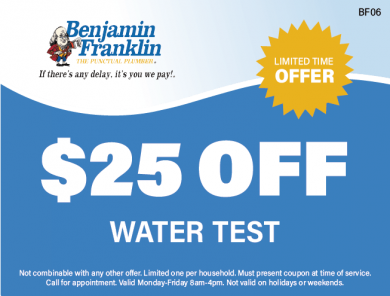 $25 Off Water Test