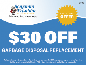 $30 Off Garbage Disposal Replacement