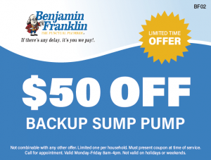 $50 Off Backup Sump Pump
